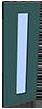 gekleurde paneel automatische schuifdeur